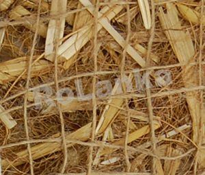 Completely biodegrdable BioD-StrawCoco erosion control mat