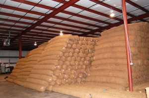 Large inventory BioD-Roll coir logs in Stockbridge, GA