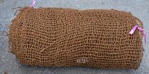 BioD-Mat 70 (unit weight: 780 g/sq.m.) woven bristle coir erosion control mat.