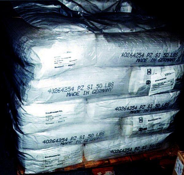 PAM powder bags for sediment control.