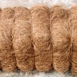 Bale of bristle coir fiber.