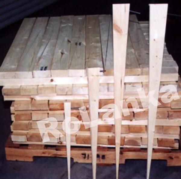 Pine wedges for soil bioengineering applications.