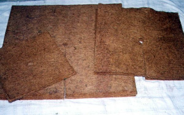 Biodegradable coir weed control mats